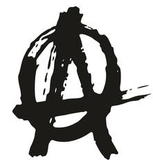Pen Anarchy Symbol Freehand Pattern & Background Element Set 02