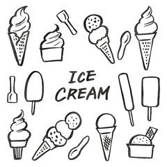 アイスクリーム ソフトクリーム 素材 墨