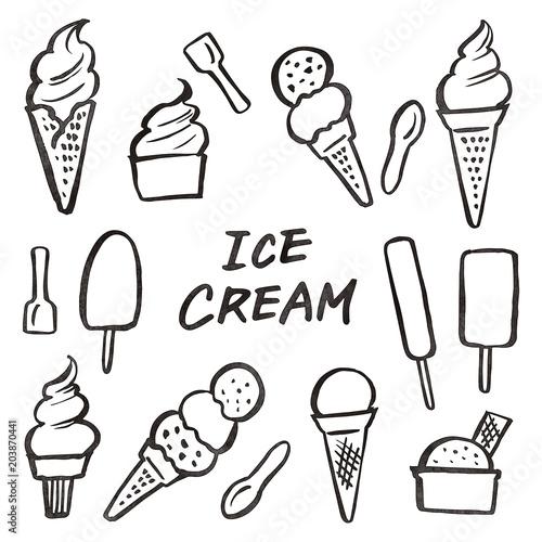 アイスクリーム ソフトクリーム 素材 墨fotoliacom の ストック写真と