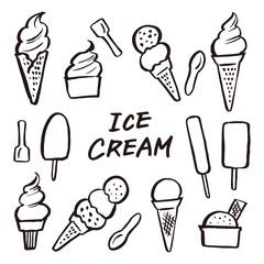 アイスクリーム ソフトクリーム 素材