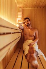 Silence time in a sauna