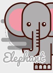 elephant cartoon poster african animal vector illustration
