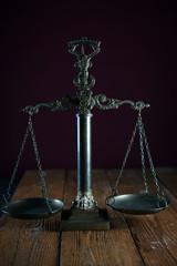 Law scale justice symbol.
