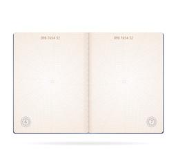 Realistic Detailed 3d Passport Blank. Vector