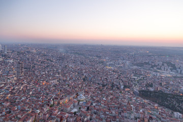 Istanbul view from the tallest building in Europe Sapphire
