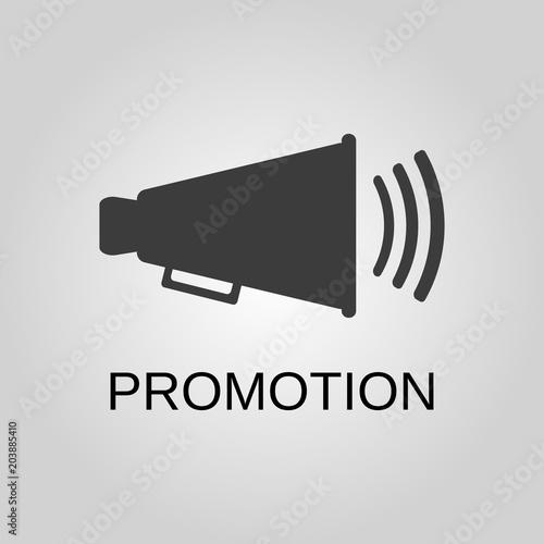 Promotion icon  Promotion symbol  Flat design  Stock