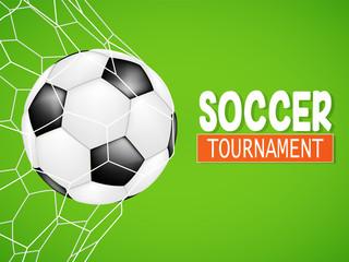 creative soccer football tournament championship game flyer brochure template