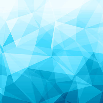 Abstract blue crystal background design layout