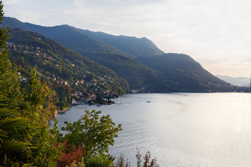 Como lake at sunset - Lombardy, Italy