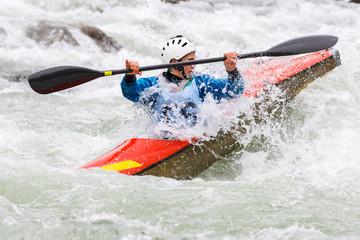 Fototapete - gara di canoa