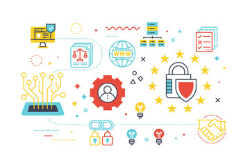 Data security protection concept illustration