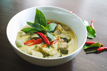 Thaï Green Curry. Plat Thaïlandais