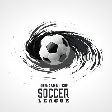 soccer tournament abstract swirl grunge background