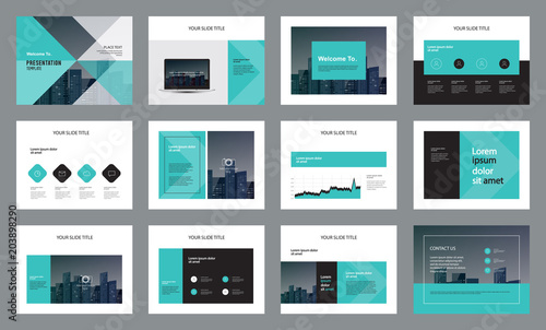 template presentation design and page layout design for brochure