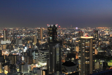 The city view from Umeda Sky Building