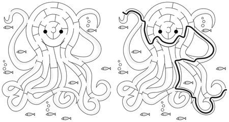 Easy octopus maze