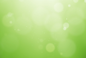 De-focused green background