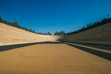 Panathenaic Stadium in Athens, Greece  - first modern Olympic Games in 1896