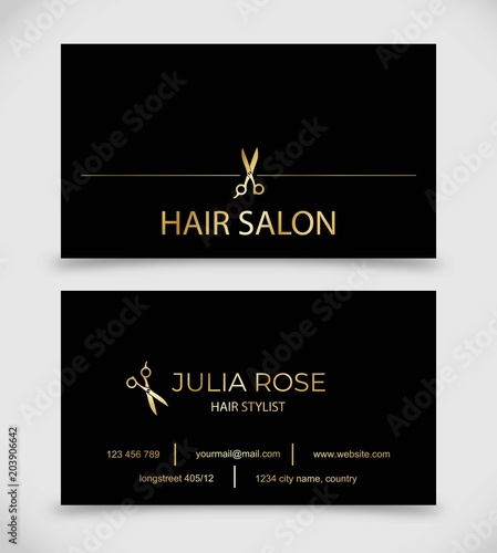 Hair salon hair stylist business card vector template stock image hair salon hair stylist business card vector template wajeb Gallery