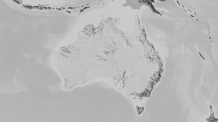 Australia, bilevel elevation - raw data