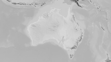 Australia, grayscale elevation - raw data