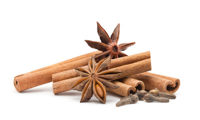 Canvas Prints Spices Cloves, anise and cinnamon