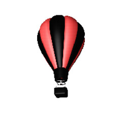 Hot air balloon. Isolated on white background. Vector illustration.