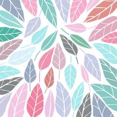Colorful leaf vector background