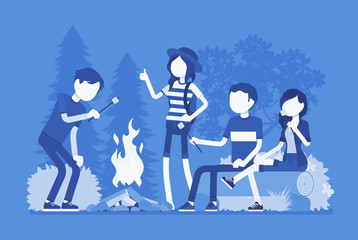 Campfire outdoor fun