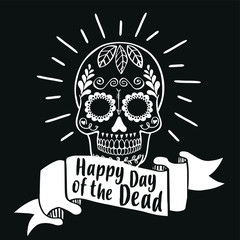 Happy Day of the Dead. Vector illustration banner.