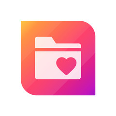 Favorites Folder - APP Icon (Vector)
