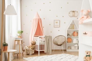 Baby girl room interior