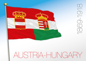Austria and Hungary empire, historical flag