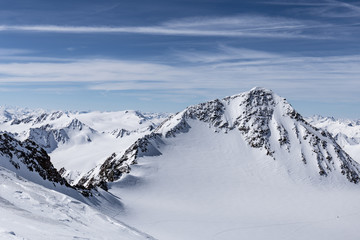 Berglandschaft im Winter mit tollem Ausblick