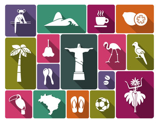 Brazilian icons. Vector illustration
