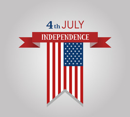 Vector background for independence day of America