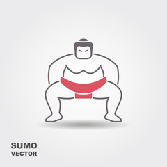 Vector illustration of sumo wrestler