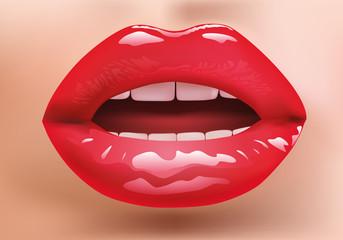 bouche - sensuelle - sexy - femme - rouge à lèvres - maquillage - sensualité - beauté - charme - belle