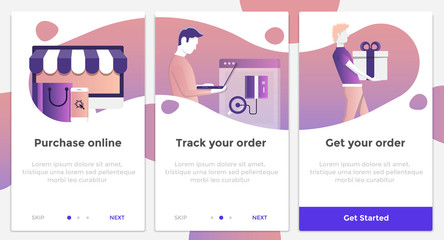 Flat Design Oneboarding Concepts 3