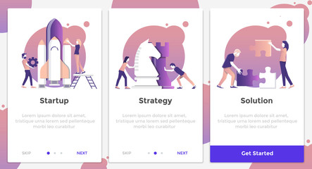 Flat Design Oneboarding Concepts 5