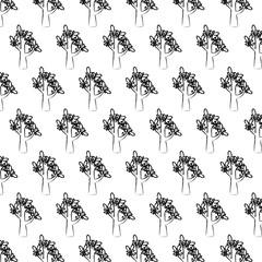 background of trees design, vector illustration