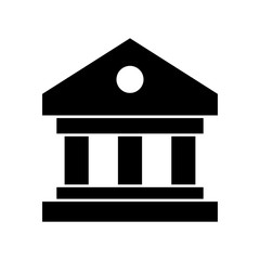 Building, bank buildink, goverment vector icon