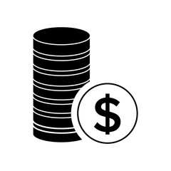 Money coins vector icon