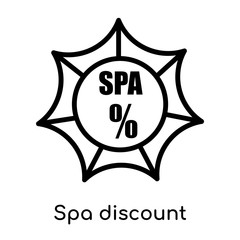 Spa discount icon isolated on white background