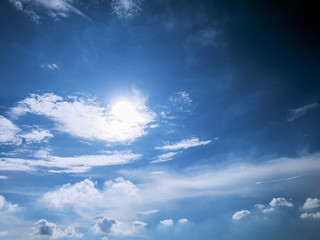 Scenic view with blue sky and cloud
