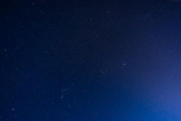 starry sky in night