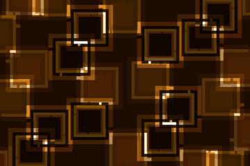 фон квадраты в квадратах коричневый