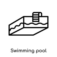 Swimming pool icon isolated on white background