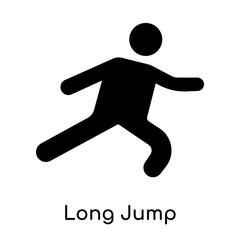 Long Jump icon isolated on white background