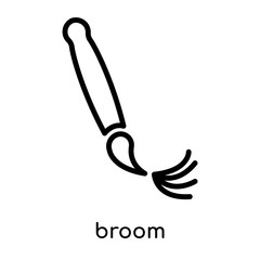 broom icon isolated on white background